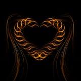 Ljusa linjer för futuristisk hjärtabakgrund, abstrakt begrepp  Royaltyfria Bilder