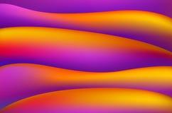 Ljusa linjer vektorbakgrund för orange och rosa magentafärgad färgrik slät vridning 10 eps konst royaltyfri illustrationer