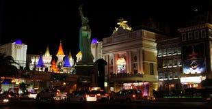 Ljusa ljus av Las Vegas, NV Royaltyfria Foton