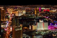 Ljusa ljus för Las Vegas remsa Arkivfoto