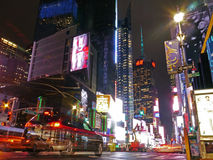 Ljusa ljus i Times Square, New York Arkivfoto