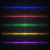 Ljusa ljusa effekter, vektorillustration stock illustrationer