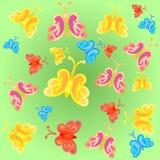 Ljusa lutningfjärilar Royaltyfri Bild
