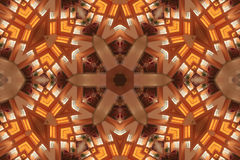 Ljusa Mandala Star Royaltyfria Foton
