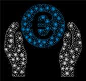 Ljusa Mesh Carcass Euro Care Hands med pråliga fläckar stock illustrationer