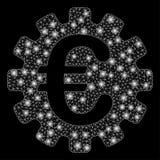 Ljusa Mesh Carcass Euro Gear med ljusa fläckar vektor illustrationer