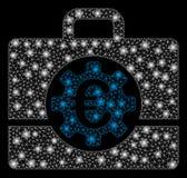 Ljusa Mesh Network Euro Bank Case med signalljusfläckar vektor illustrationer
