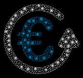Ljusa Mesh Network Euro Chargeback med pråliga fläckar vektor illustrationer