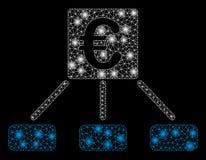 Ljusa Mesh Network Euro Distribution Links med pråliga fläckar stock illustrationer