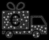 Ljusa Mesh Network Euro Gift Delivery med signalljusfläckar vektor illustrationer