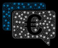 Ljusa Mesh Network Euro Messages med signalljusfläckar stock illustrationer