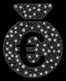Ljusa Mesh Network Euro Money Bag med pråliga fläckar vektor illustrationer