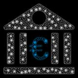 Ljusa Mesh Wire Frame Euro Bank med ljusa fläckar royaltyfri illustrationer