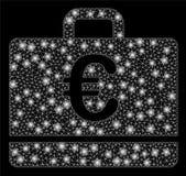 Ljusa Mesh Wire Frame Euro Case med signalljusfläckar vektor illustrationer