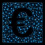 Ljusa Mesh Wire Frame Euro Financial med pråliga fläckar vektor illustrationer