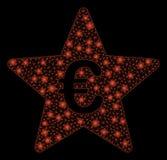 Ljusa Mesh Wire Frame Euro Hit ståtar stjärnan med ljusa fläckar stock illustrationer