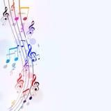 Ljusa musikanmärkningar Royaltyfri Bild