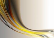 Ljusa ovalremsor och kurvor på beige bakgrund Royaltyfri Fotografi