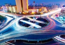 ljusa overpasstrails Royaltyfri Foto