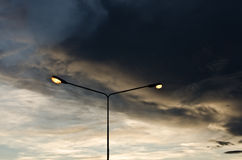 ljusa poler för afton Fotografering för Bildbyråer