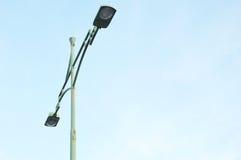 Ljusa poler för gata Royaltyfri Foto