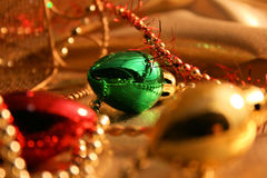 ljusa prydnadar för jul Arkivfoto