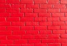Ljusa röda tegelstenar Arkivbild