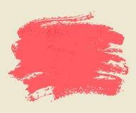 Ljusa rosa vattenfärgborsteslaglängder. Arkivbilder
