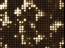 ljusa runda lampor mycket Arkivfoton