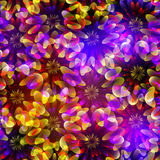 Ljusa seamless blommor stock illustrationer