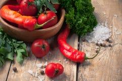 Ljusa sommargrönsaker Arkivbild