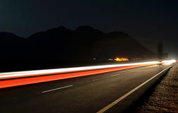 Ljusa spår Fotografering för Bildbyråer