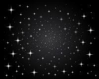 ljusa sparkling stjärnor för nattsky Arkivbild
