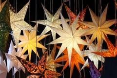 Ljusa stjärnalampor Royaltyfri Foto