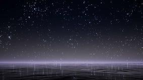 ljusa stjärnor för nattsky lager videofilmer