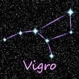 Ljusa stjärnor för vektorhoroskop i kosmos 2 royaltyfri illustrationer