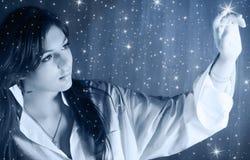 ljusa stjärnor till Royaltyfria Foton