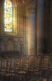 ljusa strålar Arkivbild