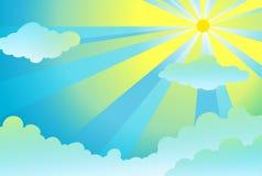 Ljusa strålar i skyen vektor illustrationer