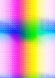 Ljusa strålar i spektral- färger som bildar ett kors Arkivbild