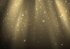Ljusa strålar och ljusdamm Royaltyfri Fotografi