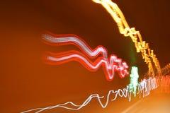 ljusa strimmor Arkivbild