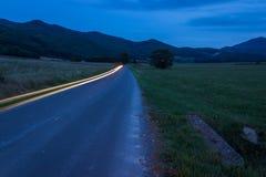 Ljusa strimmor för bil Royaltyfri Fotografi