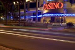 ljusa strimmor för kasino Arkivbilder