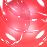 Ljusa strimmor på röda bubblor Arkivfoto