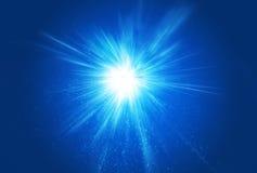 ljusa strålar för bristningsexplosion Fotografering för Bildbyråer