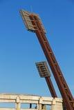 Ljusa torn för stadion Arkivbilder