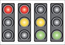 ljusa trafikvariants Royaltyfri Bild