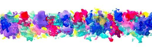 Ljusa vattenfärgfläckar Arkivfoto