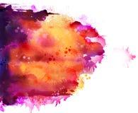 Ljusa vattenfärgfläckar Arkivfoton